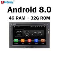 HaiSunny 4 г Оперативная память Android 8,0 автомобиль DVD навигации мультимедийный плеер Авто Стерео Радио ТВ видео для peugeot 3008 3005