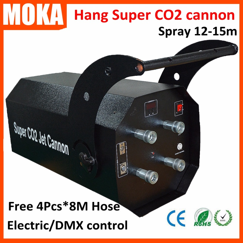 1 pcs/lot strong effect co2 jet machine super co2 cannon  Electric and dmx control co2 jet for Party KTV Stage Special Effects 6xlot disco dj strong smoke effect double nozzle co2 jet hi power dmx co2 jet machine professional dj equipment for stage show