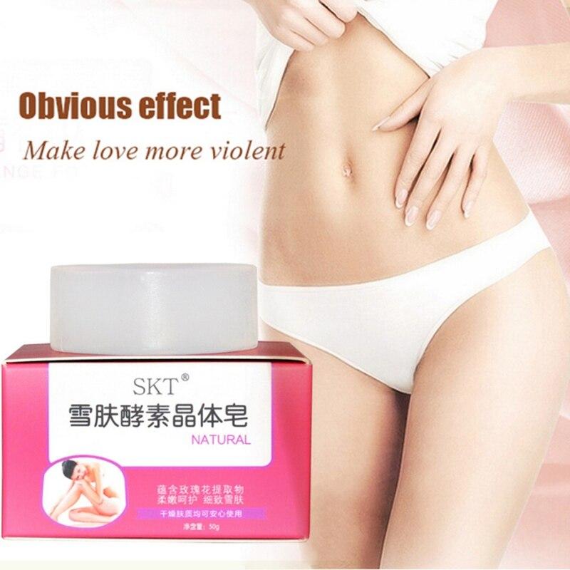 50g Whitening Soap Dilute Melanin Brighten Skin Tone Handmade Crystal Soap For Armpit Private Part