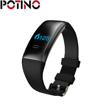 Potino B2 Bluetooth Smart Band Приборы для измерения артериального давления Часы Heart Rate крови кислородом Мониторы Спорт браслет с Шагомер удаленной Камера