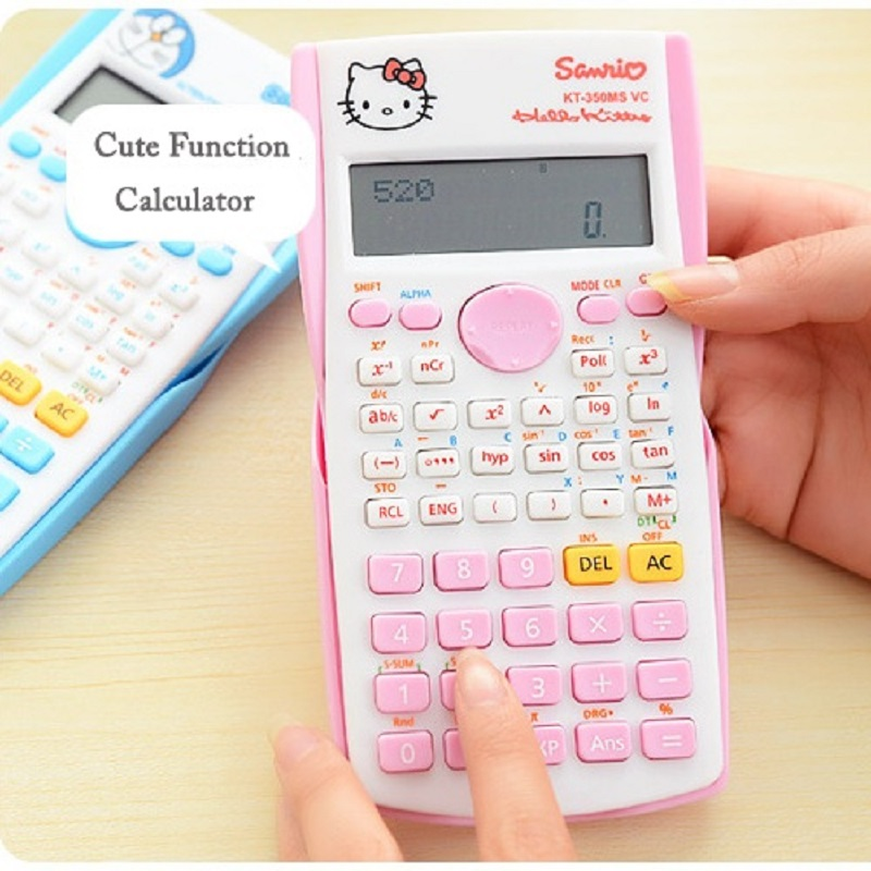Hot Cute Cartoon Electronic Digit Multifunction Calculator Fashion Student Exam Scientific Function Calculator For Office School