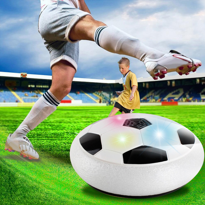 LED flashing Light Electric soccer ball Suspended Lighting Air Cushion Football Indoor traning Sports Toys Kids drop shipping