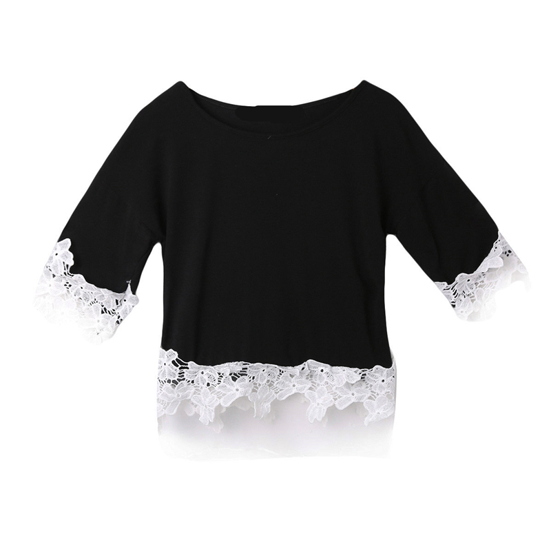 LL first store Store 2Colors New Women Blouse Feminina 2017 Long Sleeve Blouse Shirt Women O-Neck Floral Lace Sexy Casual Shirts Plus Size Lady Shirt