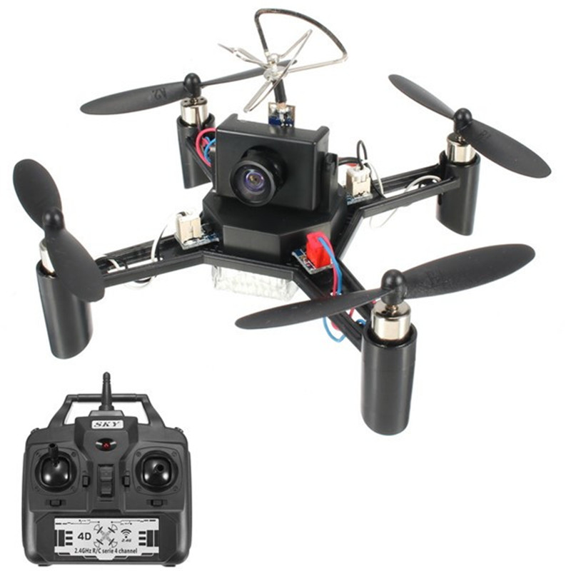 Alta calidad dm002 5.8g 600tvl Cámara 2.4g 4ch 6 eje rc quadcopter RTF al aire libre Juguetes FPV para DIY drone RC modelos