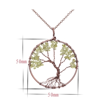7 Chakra Tree Of Life Gem Necklace  2