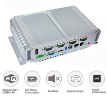 Military Quality Fanless Mini PC 4G ram 64G With Intel Celeron J1900 Quad Core Processor Running Windows 10 Mini Industrial PC