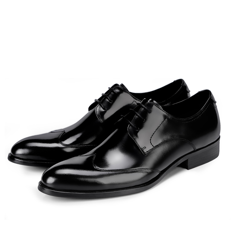 New Fashion Business Men Shoes Dress Shoes Formal Genuine Leather High Quality Causal Breathable Men'S Flats Brogue Shoes high quality men fashion business office formal dress breathable cow leather brogue shoes gentleman tassel slip on shoe loafers