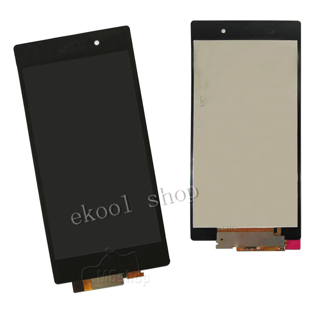 Lruiize nero display lcd per sony xperia z1 l39h l39 c6902 c6903 c6906  touch screen con digitizer + strumenti da0044bb7db