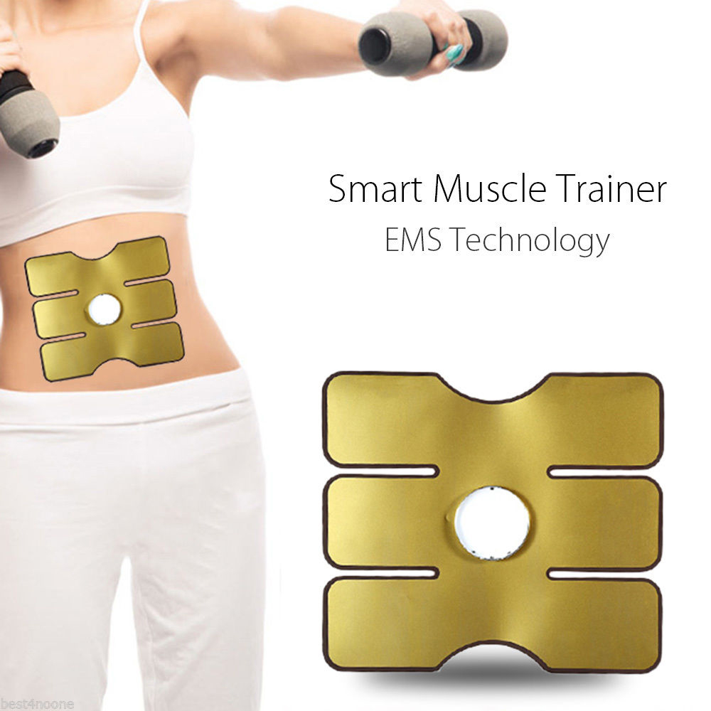 Abdominal Exercise Machine Electric Muscle Stimulator ABS EMS Trainer Fitness Burn Fat Weight Loss Body Slimming Massage
