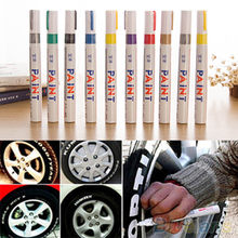 12 Colors Waterproof Car Tyre Tire Tread Rubber Metal Permanent Paint Marker Pen(China)