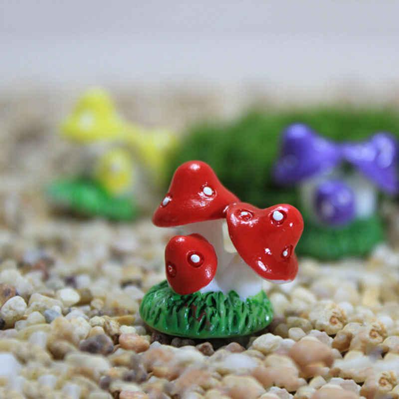 مايكرو المناظر الطبيعية بونساي النباتات البستنة حديقة ملحق ديكور حصص الحرفية 4 ألوان الراتنج الحرف مصغرة مصغرة الفطر