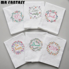 Embroidery Wedding Serviette Super-Absorbent Cotton Plain Tea Towel Glass Concise Upscale Home Cloth Table Napkin 45*70 SBY8039