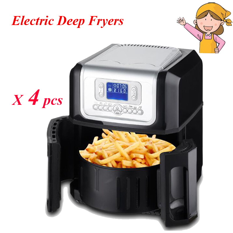 4pcs/lot The Third Generation of the Whole Intelligent Large Capacity without Oil Electric Deep Fryers XK301