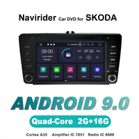 Navirider OS 9.0 Car Android Player For SKODA OCTAVIA II 2004 2011 radio gps navigation bluetooth TDA7851 Amplifier sound System