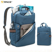 YINUO Laptop Backpack 15.6inch 14inch Anti theft Large Capacity Student Backpack Waterproof Shockproof Laptop Bag