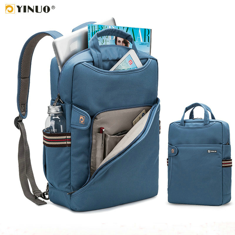 YINUO Laptop <font><b>Backpack</b></font> 15.6inch 14inch Anti-theft Large Capacity Student <font><b>Backpack</b></font> Waterproof Shockproof Laptop Bag image