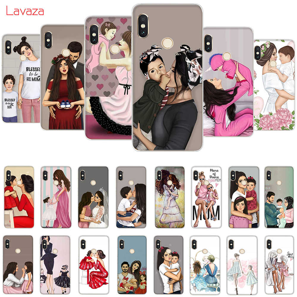 Lavaza Fashion Black Brown Hair Baby Mom Girl Queen Hard Case for Huawei Mate 10 20 P9 P10 P20 Lite Pro P smart for Honor 8X