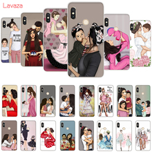 Lavaza Fashion Black Brown Hair Baby Mom Girl Queen Hard Case for Huawei Mate 10 20 P9 P10 P20 Lite Pro P smart Honor 8X