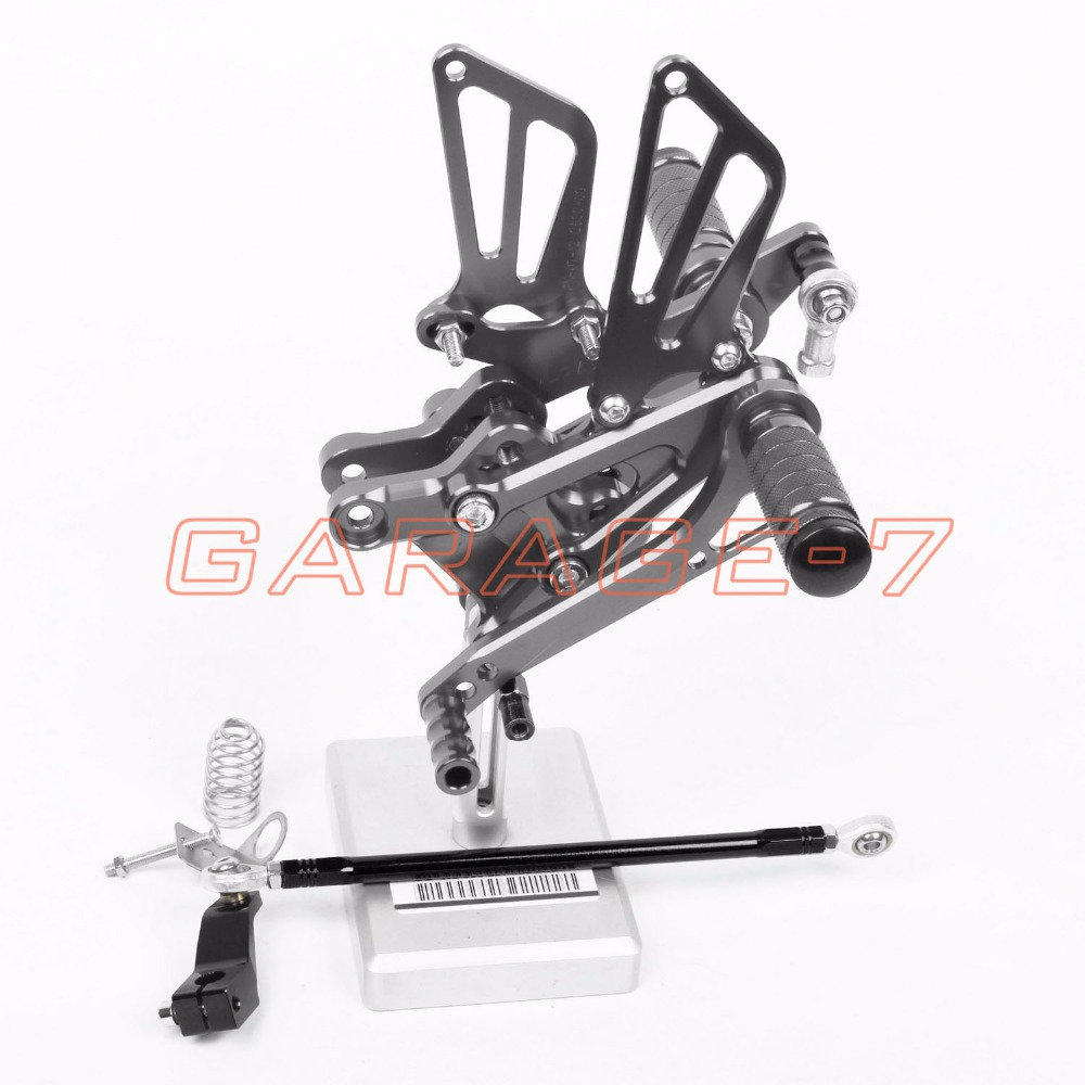 CNC Aluminum Alloy Rearsets Foot Rests Rear For HONDA CBR600F 1995-1998 1996 1997 Motorcycle Foot Pegs Titanium color  New