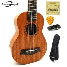 SevenAngel High Quality Ukulele Concert Soprano Four Strings Hawaiian Guitar Mahogany Electric Ukelele Acoustic guitar Uku