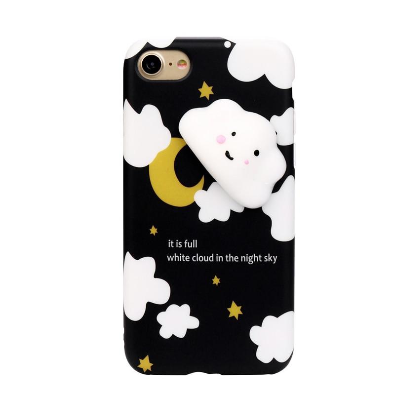 Squishy 3D Cute Cloud Clear Silicone Back Soft Case Cover for iPhone 8 4.7inch Futural Digital jiu13