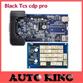 2017 Hot sale BLACK tcs cdp pro Plus with 2015 R1 software+led cable on obd 2 for Cars Trucks &Generic 3in1 with Bluetooth obd2