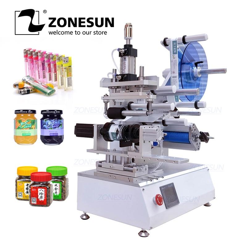 ZONESUN XL-T805 Semi-automatic PET Plastic Cans Lighter Water Milk Juicer Hexagon Bottle Stick Mark Labeling Machine Labeller