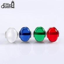 59f5273a8f78 Effie reina pendientes de moda para mujeres con rojo blanco azul verde  piedra pendientes joyería Navidad Fiesta regalo DOE33