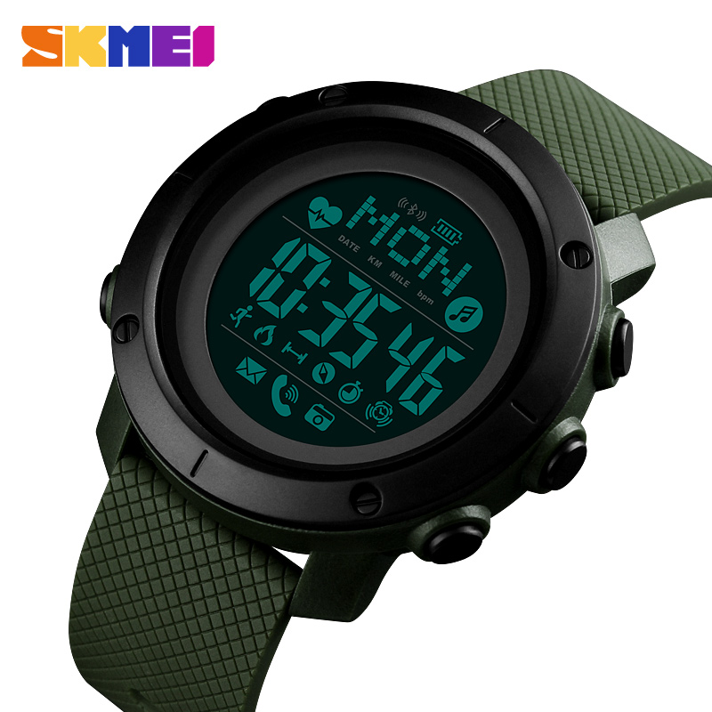 Relógio inteligente para android wear android os ios bluetooth mulher smartwatch masculino esporte relógio bússola relógio inteligente skmei 2019