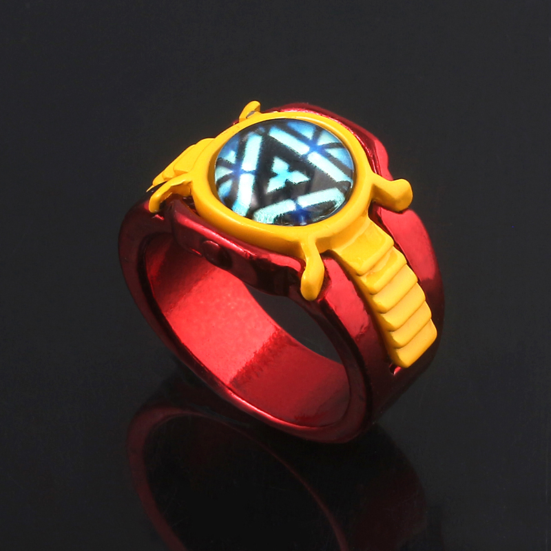 Superhero Iron Man Arc Reactor Ring Men Avengers Endgame Infinity War Thanos Power Crystal Ring For Women Fans Souvenir Gifts in Rings from Jewelry Accessories