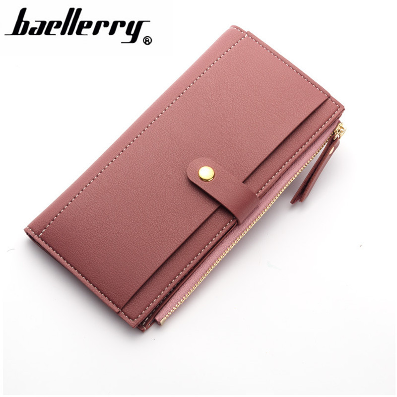 Women Wallets Fashion Hasp Long Solid Color Luxury Brand Leather Wallet Female Purse Clutch Money Women Wallet Coin Purse173