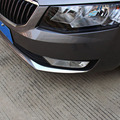 Free Shipping High Quality ABS Chrome Front Fog lamps cover Trim Fog lamp shade Trim For Skoda Octavia A7