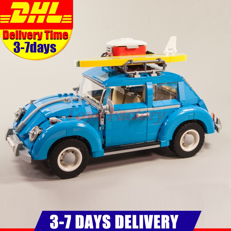 LEPIN 21003 Genuine Techinc 1193Pcs Bettle Car Model Building Kits Set Block Bricks Compatible Children Toy 10252 lepin 21003 series city car classical travel car model building blocks bricks compatible technic car educational toy 10252