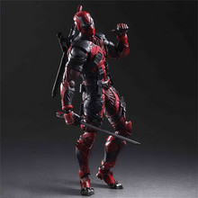 Play Arts Kai Iron Man Spiderman Venom Captain America Deadpool Action Figure Toys
