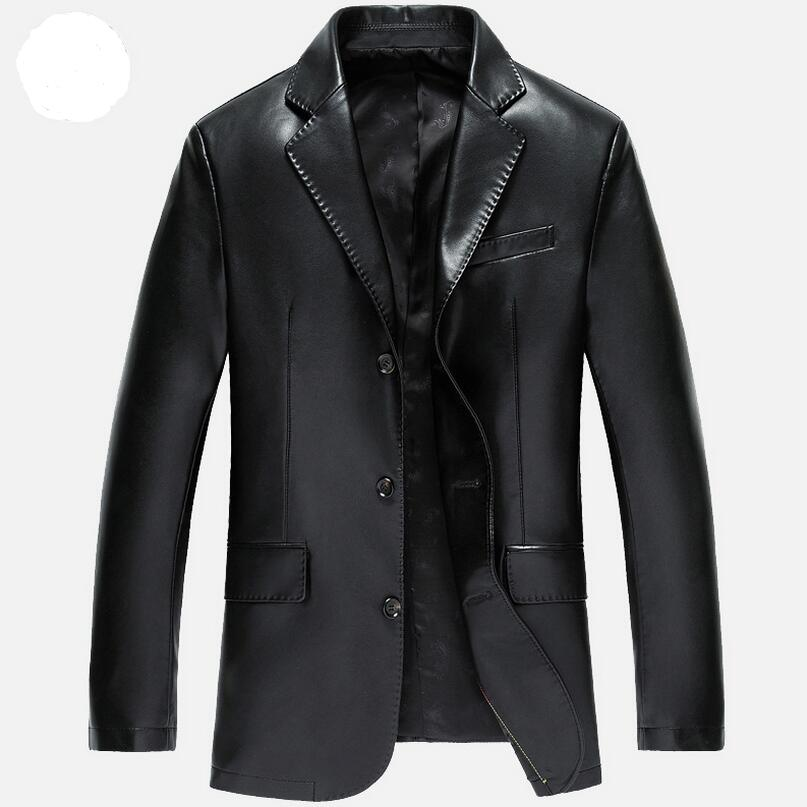 New Mens Leather Jackets High-grade Suit Collar Leather Jacket Men Spring And Autumn Casual jacket Men Leather CLothing