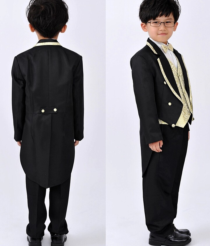 2015 Black Boys trajes para la boda ropa frac Jacket