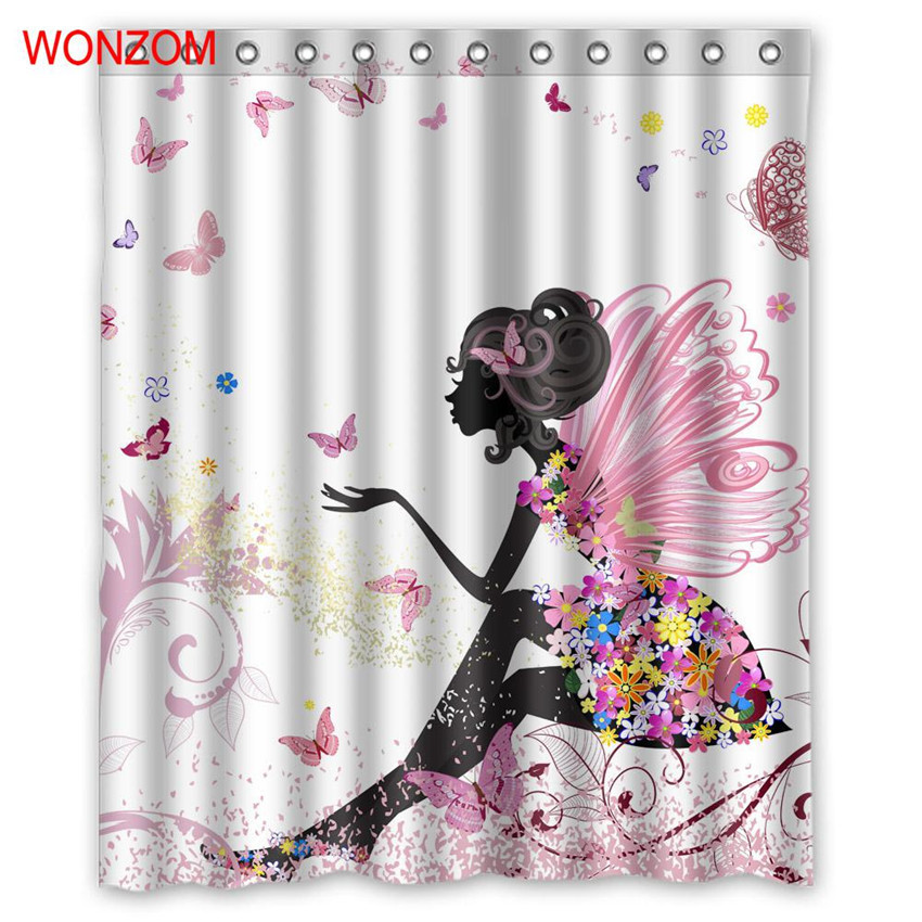 WONZOM 3D Polyester Elf Shower Curtains With 12 Hooks For Bathroom Decor Modern Bath Waterproof Curtain Accessories In From Home