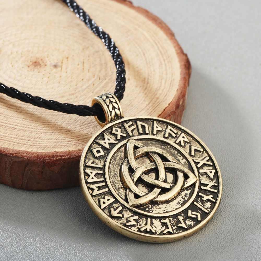 CHENGXUN adolescent garçons cadeau d'anniversaire Cool Punk collier amour celtique noeud infini pendentif Antique or hommes Viking amulette