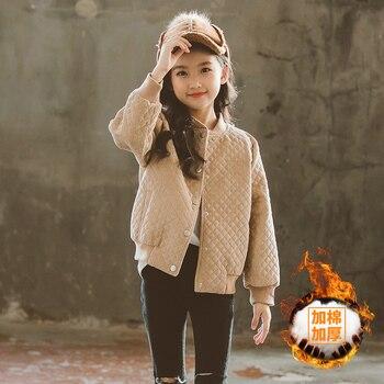 Teen Girls Plus Cotton Thick Autumn Winter Parkas Baseball Uniform Girl Coat Daughter Mother Family Matching Outfit Outerwear