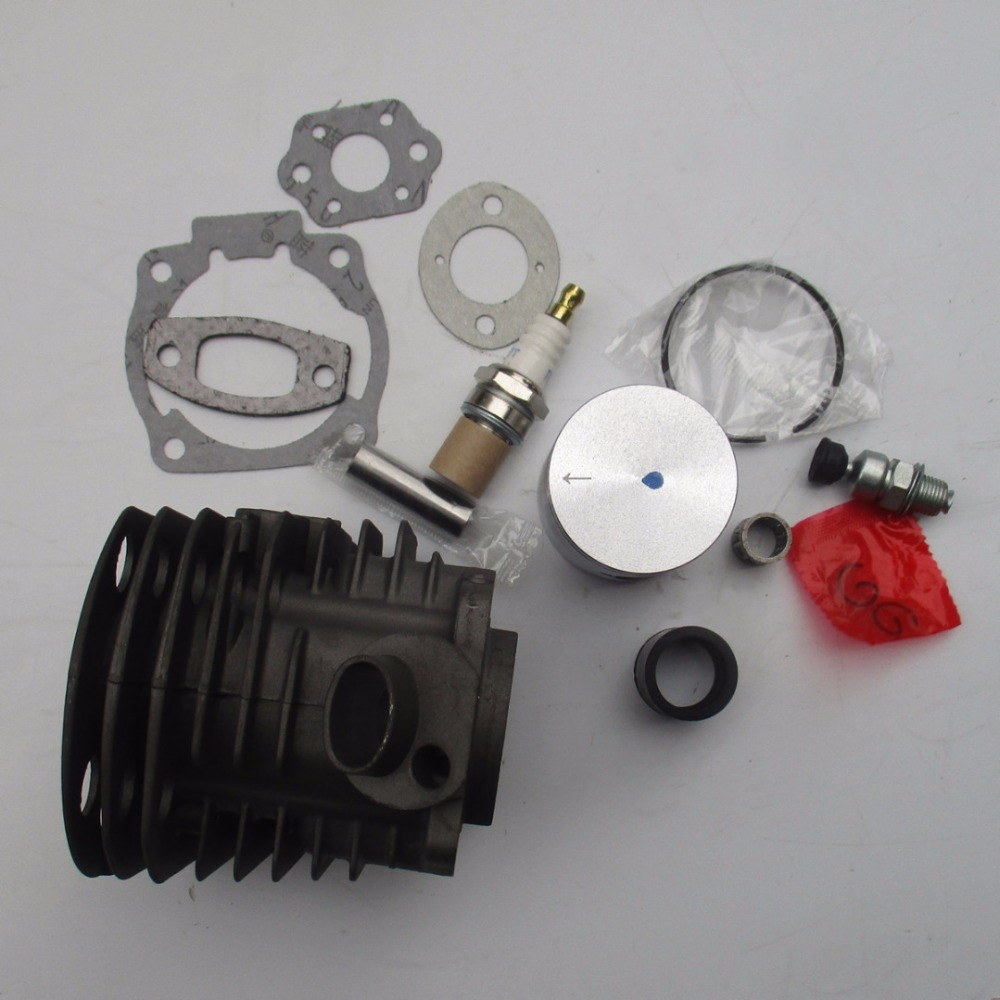 Mayitr Cylinder Piston Kit For 50 51 55 55 Chainsaw Replace For 503 60 91 71 Chainsaw Carburetor Kits With Gasket High Quality 38mm cylinder barrel piston kit