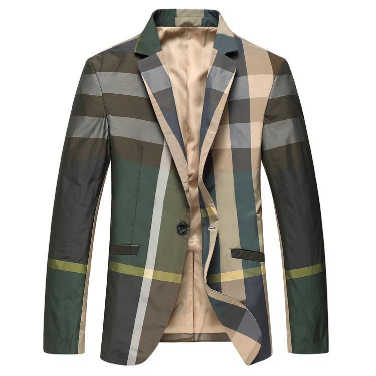 a9267b71aca0e M-6XL Plus Size Mens Business Slim Fit Plaid Blaze... US  53.68. Design mens  coats and jackets ...