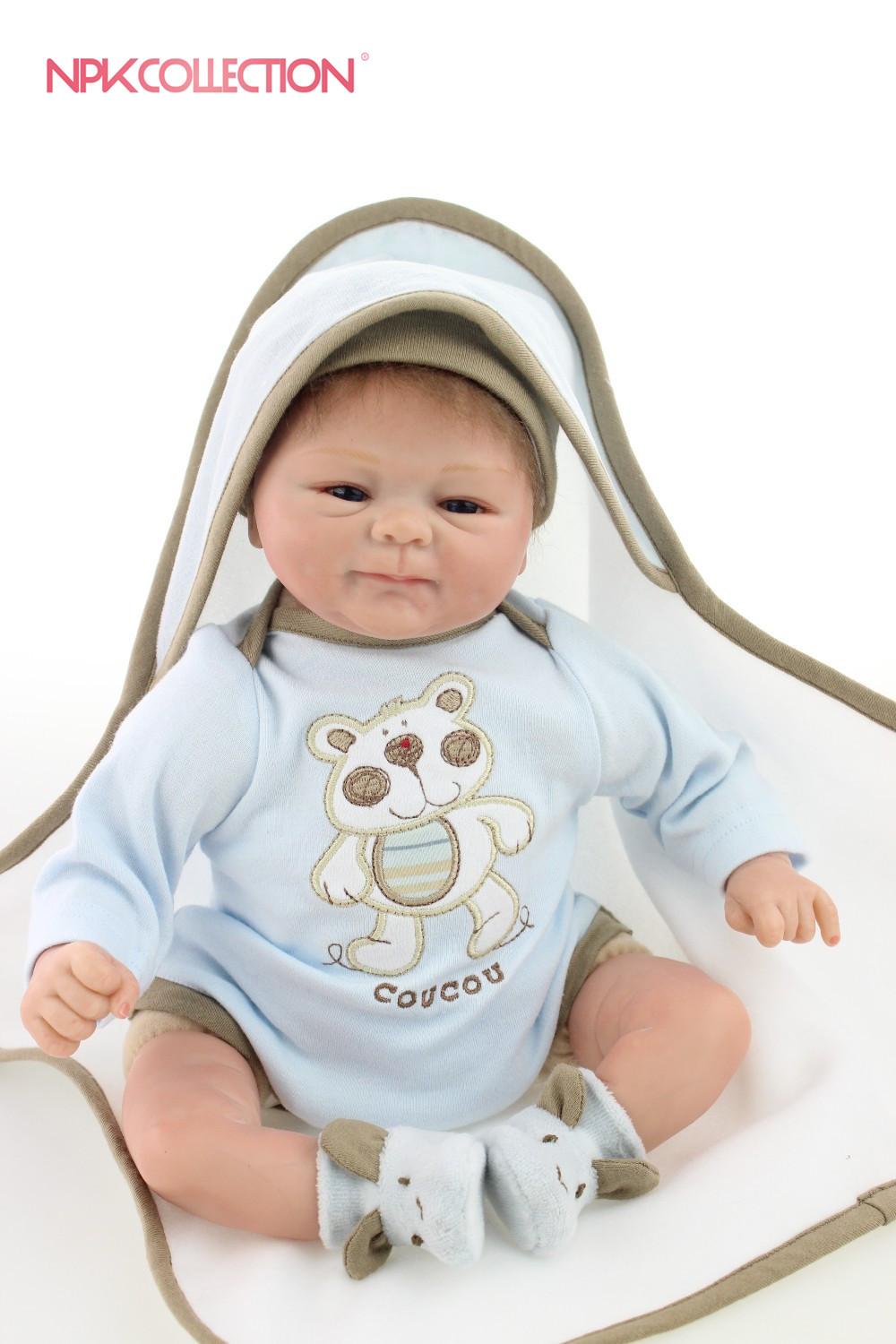 NPKCOLLECTION reborn doll with soft real gentle touch hot sale Adorable reborn dollalive lifelike soft dolls Children gifts toys hot sale 12cm foreign chavo genuine peluche plush toys character mini humanoid dolls