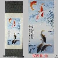 TNUKK 40 Chinese SuZhou Silk Art Phoenix Bird Silk Decoration Scroll Painting Wall Adornment Murals Home