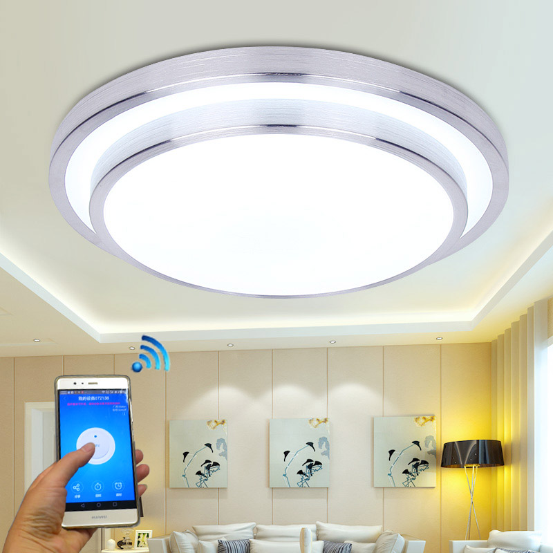 Jiawen LED Wifi Wireless Ceiling lights Aluminum+Acryl Indoor Smart  lighting with App Remote Control AC 100-240V forman g just one includes just one day just one year and just one night