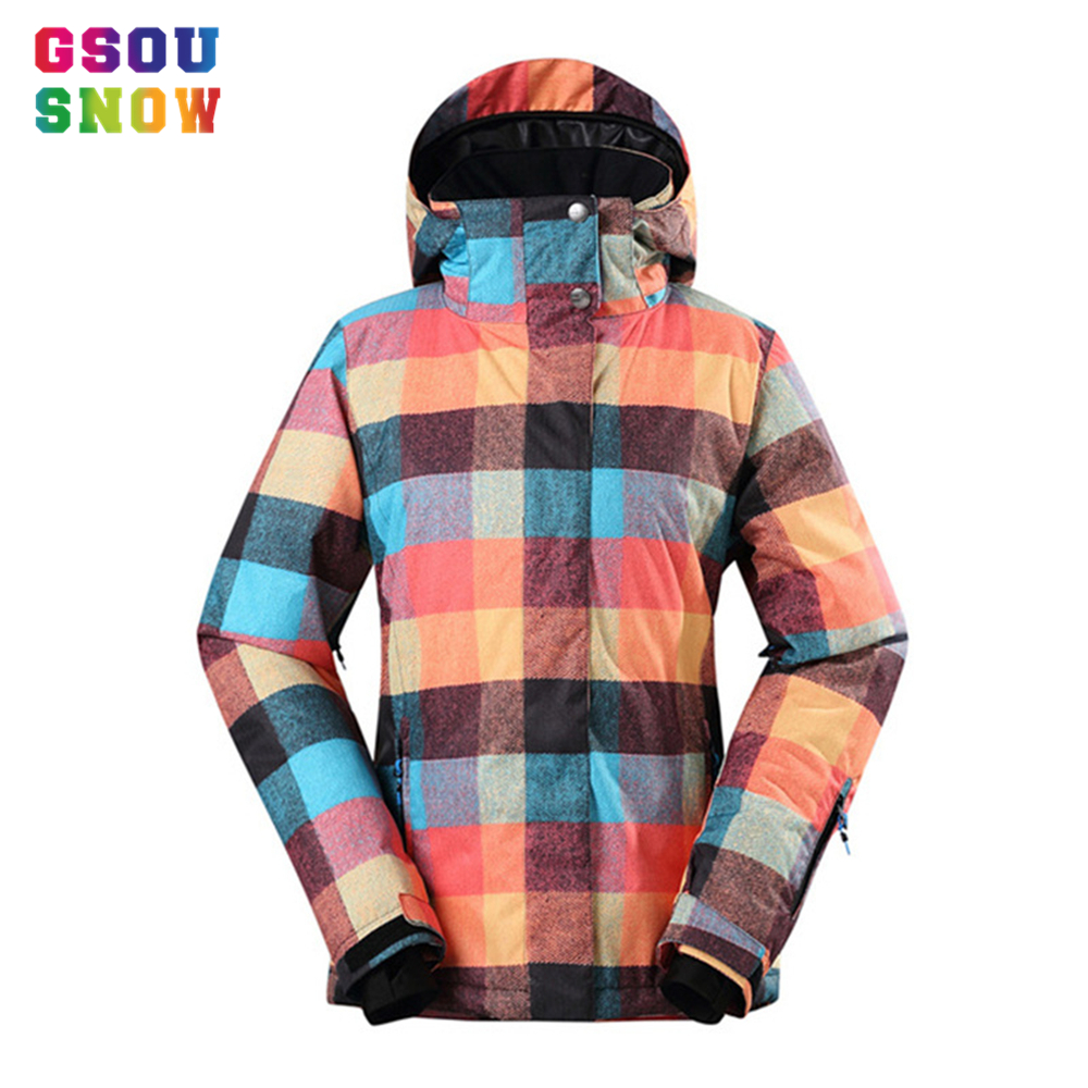 New Arrival Gsou Snow Women Ski Jacket Waterproof 10000 Breathable 10000 Winter Snowboard Jacket Outdoor Mountain Ski Snow Coats new arrival mountain