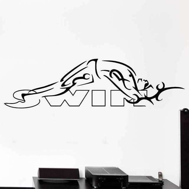 buy swim sticker logo name swimmer decal. Black Bedroom Furniture Sets. Home Design Ideas