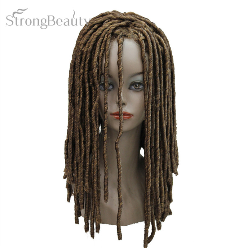 Strong Beauty Full Synthetic Wigs Long Black Brown Gold Curly Rolls Hair Cosplay Costume Party Wig
