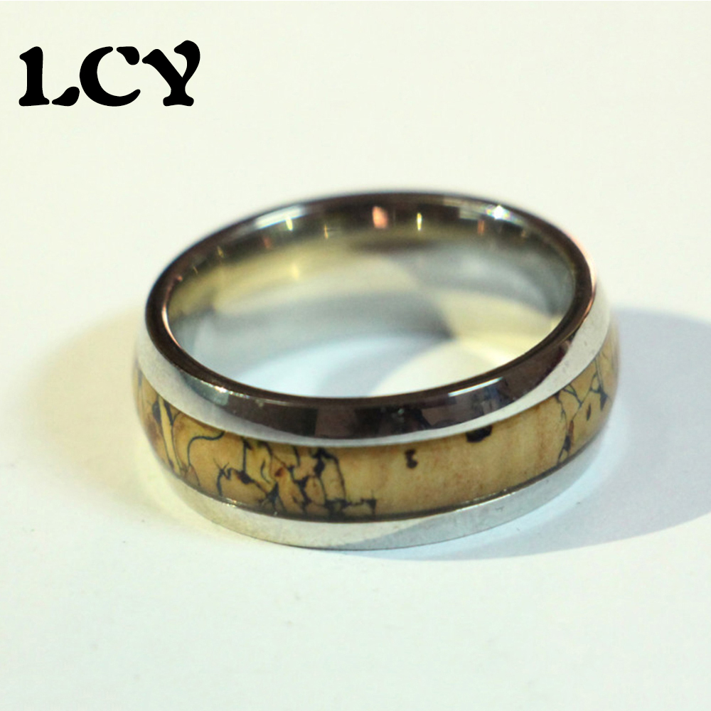 2016 Brand New font b Ring b font For Men With Special Wood Inlay Fashion font
