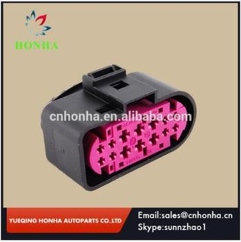 14 Pin/Way Car Headlight Xenon Lamp Plug Connector Auto Xenon Headlights Lamp Socket 1J0973737 image