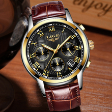 LIGE Watch Multifunction Chronograph Leather LIGE9849